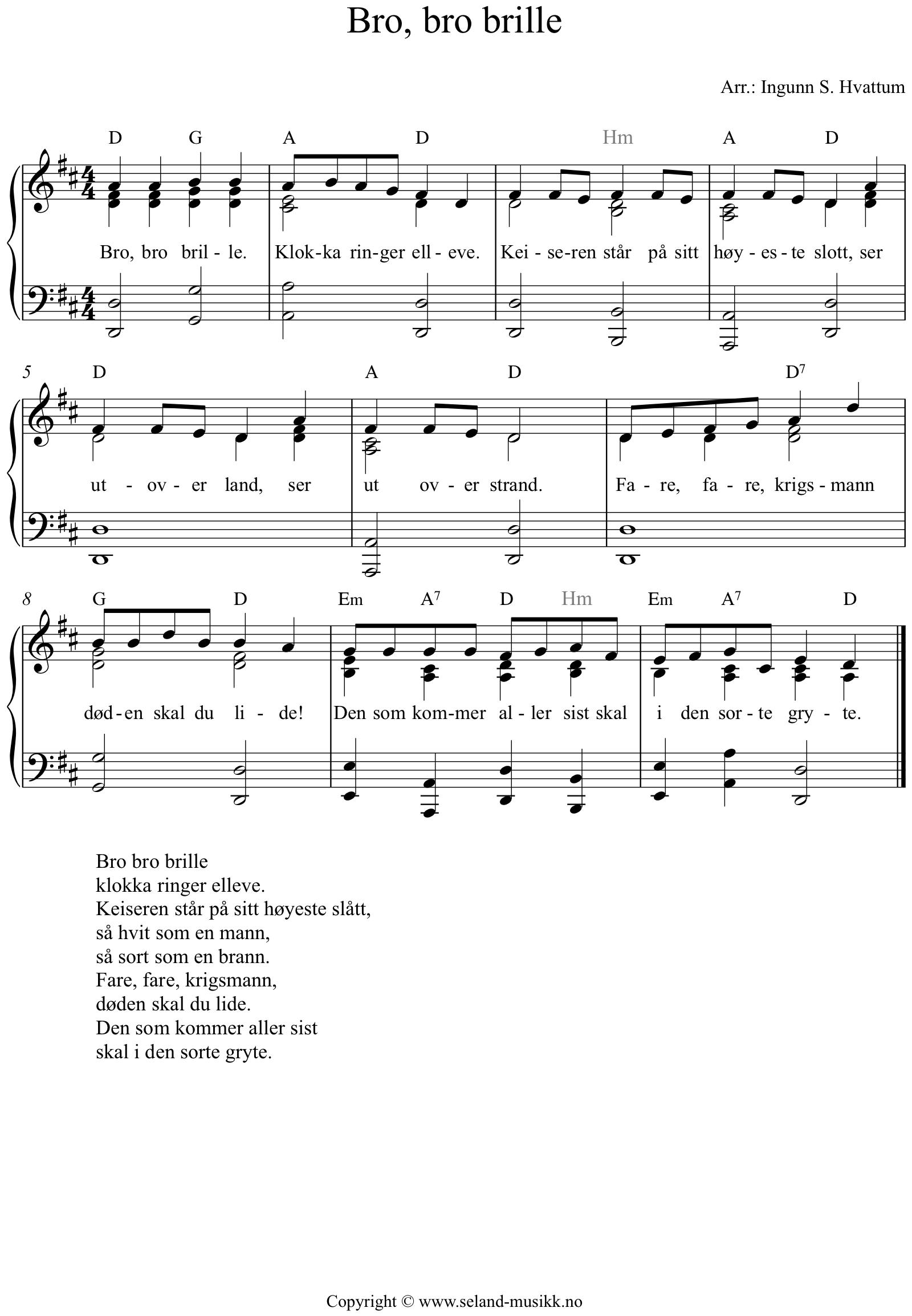 lovsanger tekst besifring