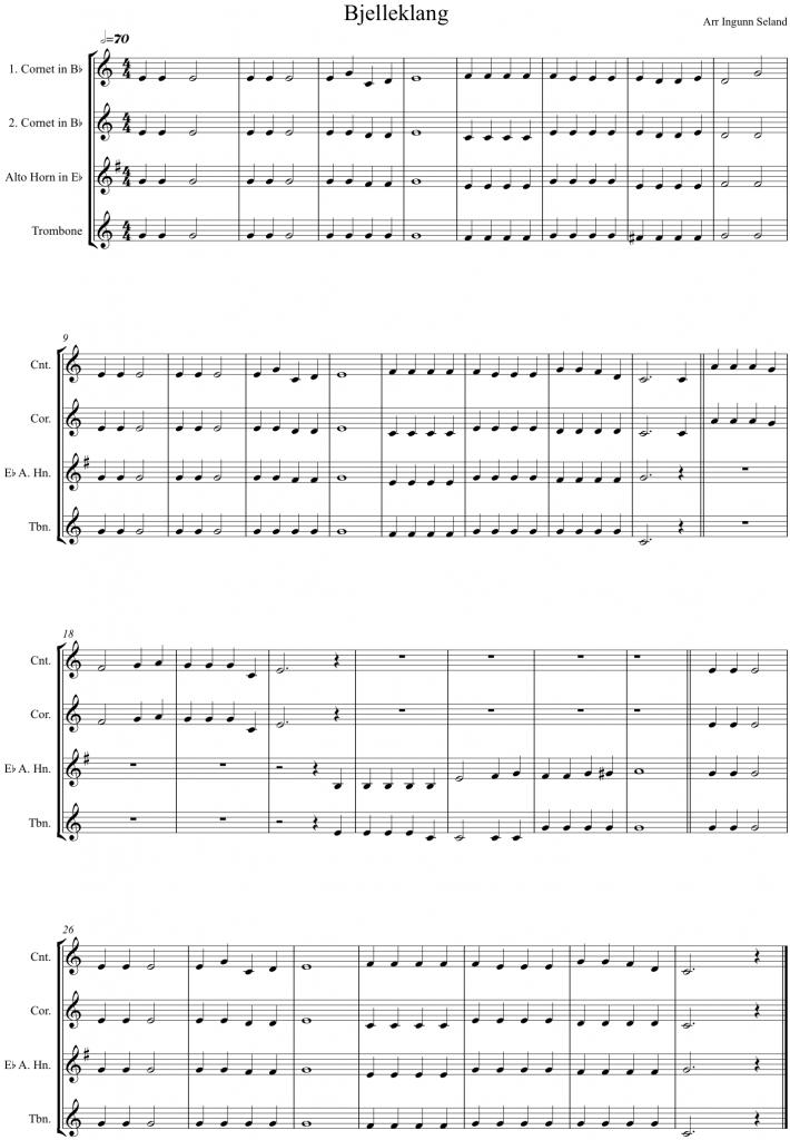 Bjelleklang - kornett, althorn, trombone